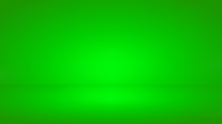 Green screen studio background. Realistic template mock up. Empty room with spotlight effect. Vector, eps 10. Foto de archivo - 113100241