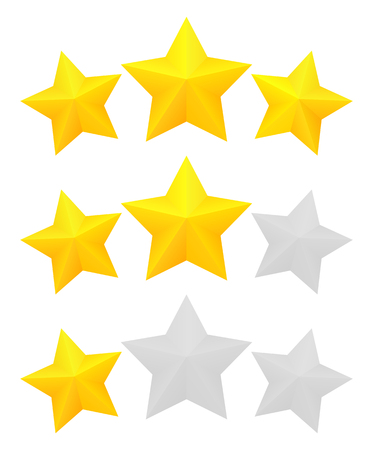 Three star rating Banque d'images - 116207668