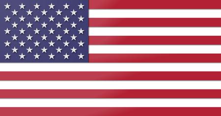 Paper cut USA flag