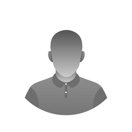 Photo de profil asexuée anonyme moderne. Avatar dégradé monochrome. Icône abstraite de l'intelligence artificielle.
