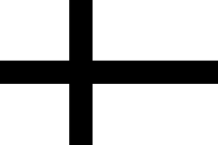 Scandinavian cross flag. Black and white versions of Denmark, Finland, Iceland, Norway and Sweden flags.