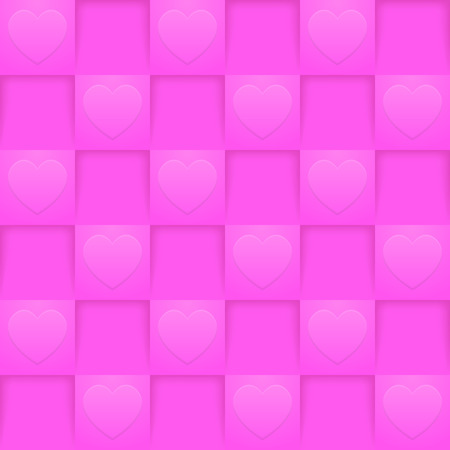 Bright pink squares seamless pattern. Romantic wallpaper. Valentine's Day or wedding backdrop template. 矢量图像