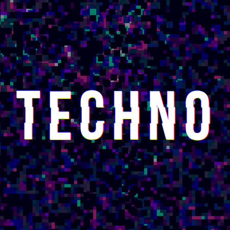 Techno music sign 矢量图像