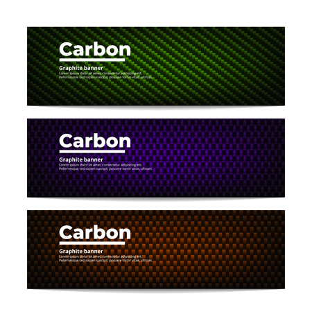 Carbon fiber banners template