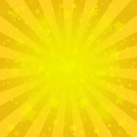 Bright yellow starry background 矢量图像