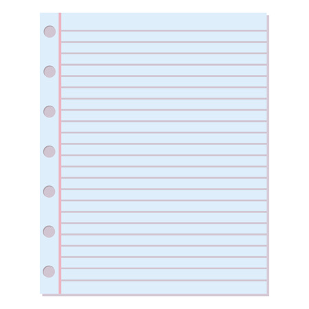Notebook Paper Background Blank Education Design Notepad Empty