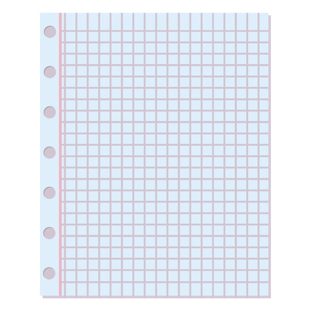 notebook paper background: Notebook paper background. Blank education design notepad empty notebook paper sheet. Template object line notebook paper texture write office document page empty sheet.
