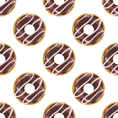 glazing: Cute donuts with colorful glazing seamless pattern. Seamless background of colorful donuts glazed. donuts, sweet food texture cake dessert sugar cream pastry chocolate dessert bakery. Illustration