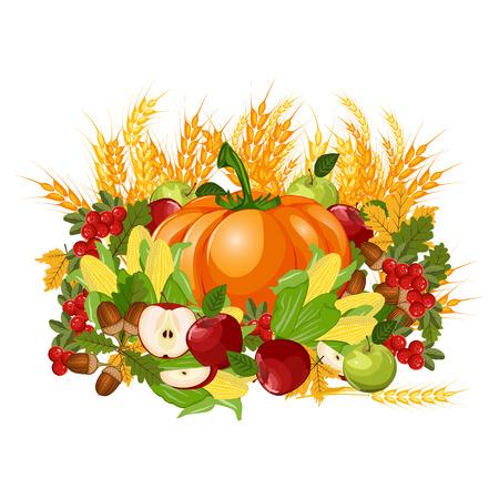 Happy Thanksgiving celebration design