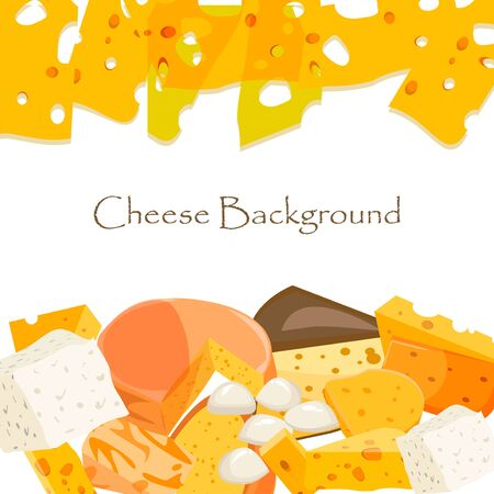 cheez: Various types of cheese healthy holland triangle edam vector illustration. Cheese freshness gourmet slice culinary piece. Cheese snack dairy food cheese appetizer organic yellow product breakfast