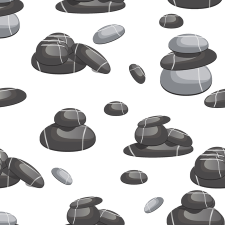 pebbly: Spa stones of various shapes and prebbly color seamless pattern vector background. Relax spa stone mineral texture abstract seamless pattern. Natural sea spa rock material spa stone wallpaper surface.