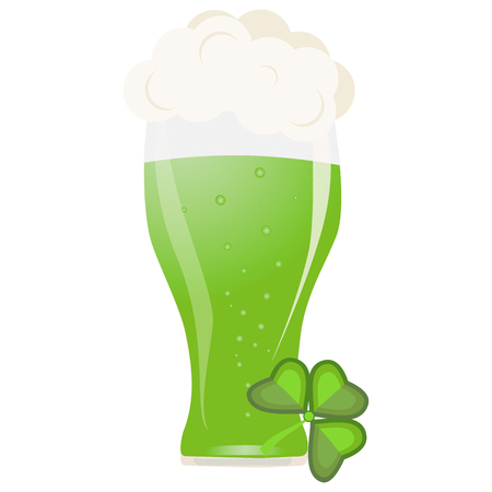 Alcohol green beer vector transparent glass illustration brewery and party beverage frosty drink.