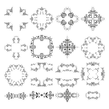 Klassische Vintage Elemente des Rahmenteilervektor-Retro- Randes. Design Illustration Monogramme Einladungen Menüs Etiketten.