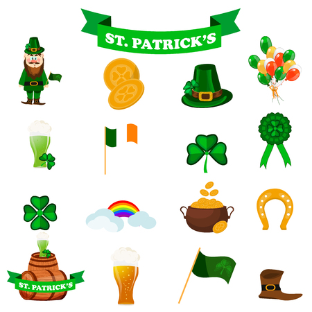 St. Patrick s day icons.