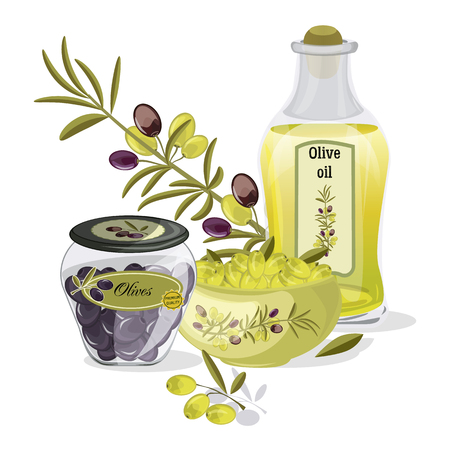 Olive oil vector products