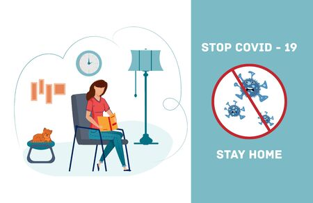 Stay at home during quarantine. Quarantine connection Coronarusom. Online consultation with your doctor.
