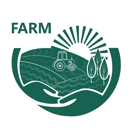 Farm House concept  . Organic food fresh design.