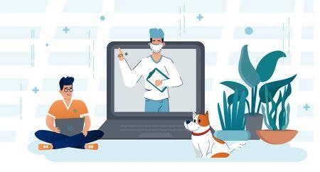 Online Doctor, Telemedicine, Medical Service Online for Patients.