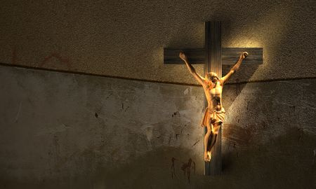 But he was wounded for our transgressions, he was bruised for our iniquities [Isaiah 53:5] photo