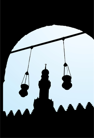 Salah El Din Kasteel 2 Stock Illustratie