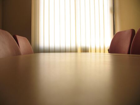 Red chairs in a meeting room and window with curtains Stock Photo - 5220645