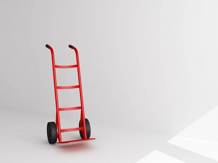 conveyance: Hand Truck - 3d illustration