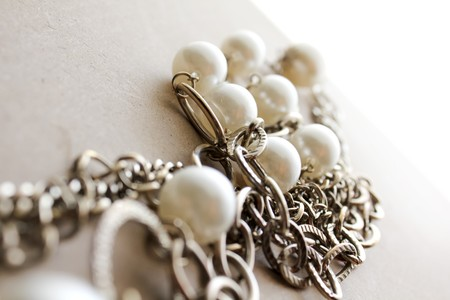 Beautiful Necklace jewelery in a moody atmosphere photo