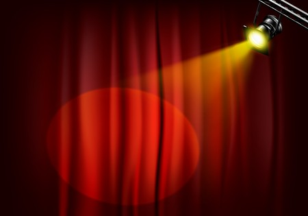 power projection: Spotlight on stage curtains