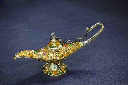 Genie lamp with khyamia fabrics photo