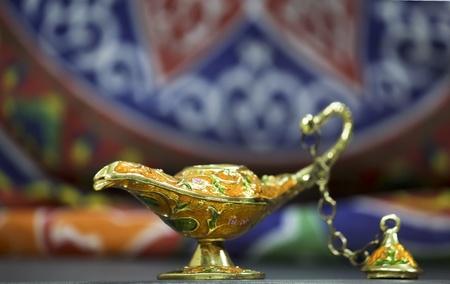 Genie lamp with khyamia fabrics photo
