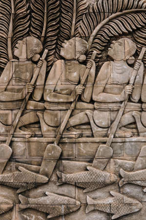 folkways: folkways of thai people, thailand Stock Photo