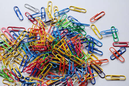 Image of some used colorful paper clips Stock Photo - 7632855