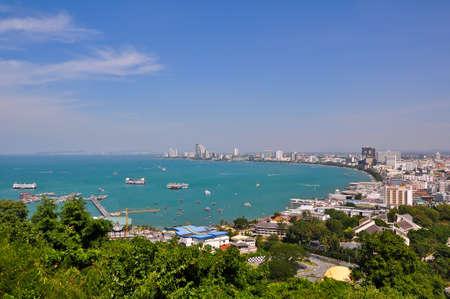 Pattaya bay, bird of view photo