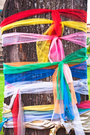 hallow: Fabric in multi color on tree