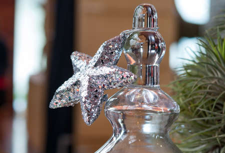silver star: Silver star for christmas decoration