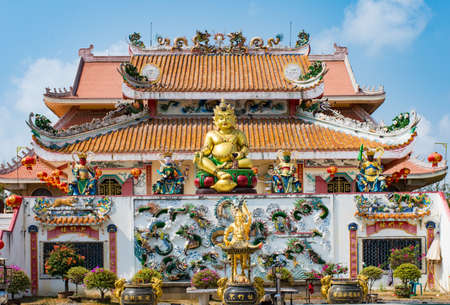 public domain: Chinese temple in Thailand, They are public domain or treasure of Buddhism Stock Photo