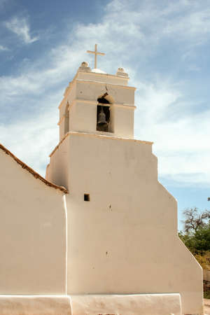 colonial church: white church with bell