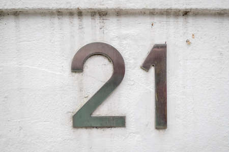 house plaque number 21