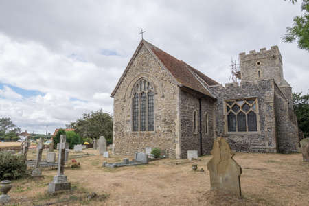 christian halloween: Old stone church in the UK Stock Photo