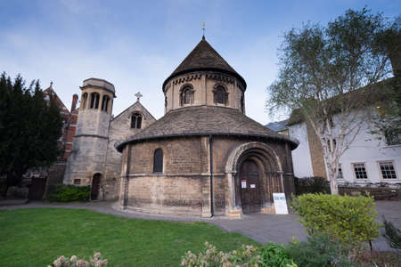 Cambridge, England - May 6, 2016: The Holy Sepulchre church on a sunny day