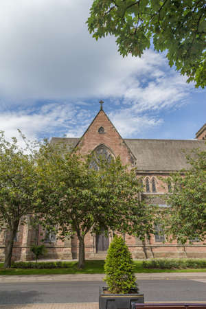 ness river: An small church with a tower in Inverness, Scotland Stock Photo