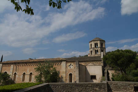 pla: A side view of the Giorna Church on a sunny day Stock Photo