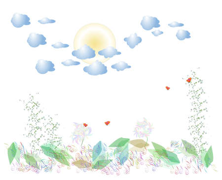 3d illustration of the coming of spring Stock Vector - 4339423
