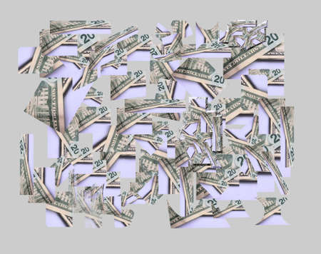 worthless: usa  20 dollar bills scattered on floor wallpaper and background