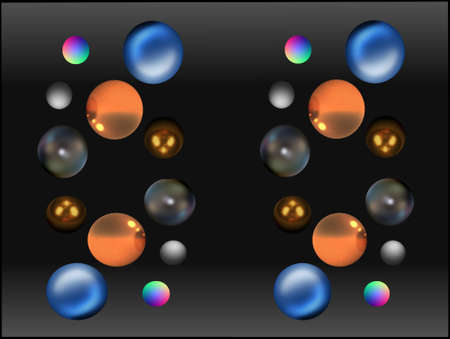 screensaver: 3D SPHERES FLOATING IN SPACE IN VAROUS PATTERNS AND COLORS SCREENSAVER