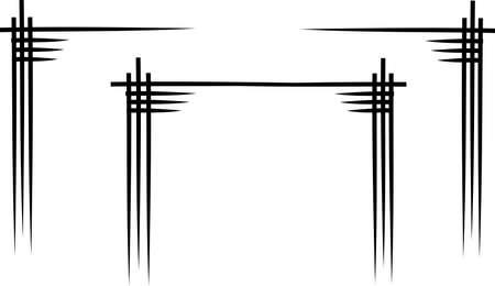 pagoda: elementos de dise�o de la pagoda de influencia y en negro sobre blanco