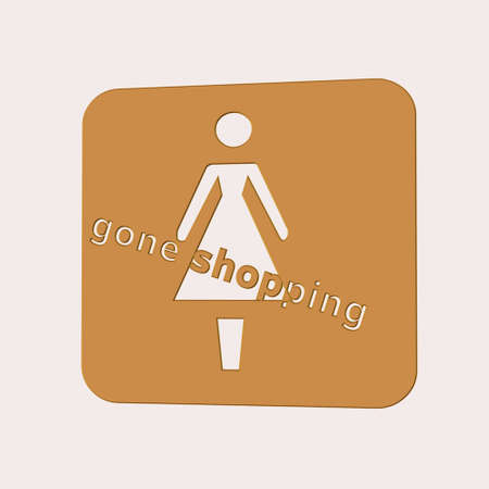 gone shopping signage on white  and in 3d