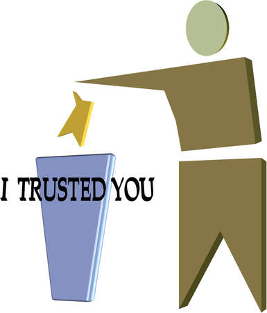 trusted: trust is the keyword Stock Photo