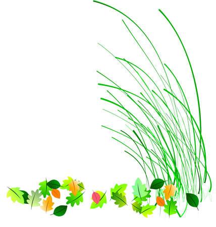 blades of spring illustration on white Stock Illustration - 4499776
