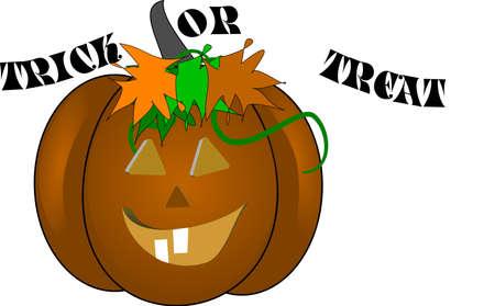 trick or treat pumpkin Stock Vector - 4533003